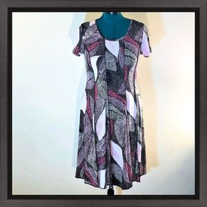 NWT Sami & Jo Multi-Color Swing Dress Size Lge